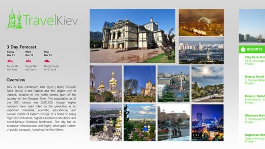 TravelKiev for Windows 8