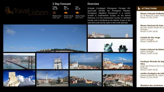 TravelLisbon for Windows 8