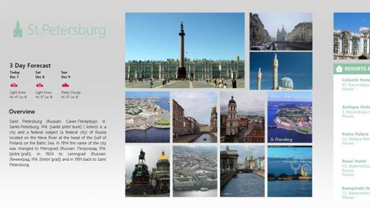 TravelSaintPetersburg for Windows 8