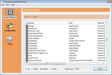 TriceraSoft Song Book Creator