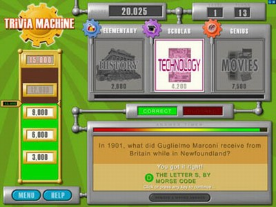 Trivia Machine Game