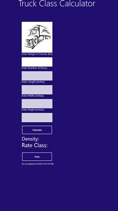 Truck Class Calculator for Windows 8