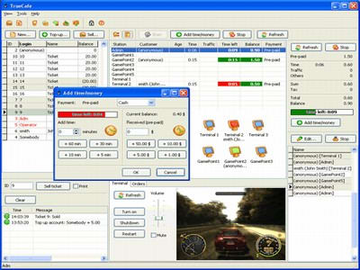 TrueCafe. Internet cafe software