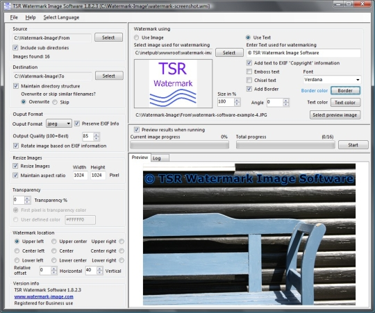TSR Watermark Image Software Pro