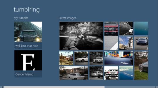 tumblring for Windows 8