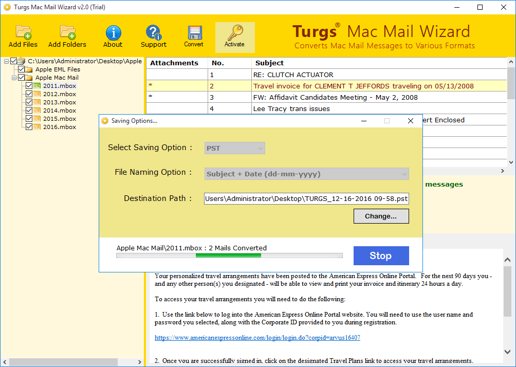 Turgs Mac Mail Wizard