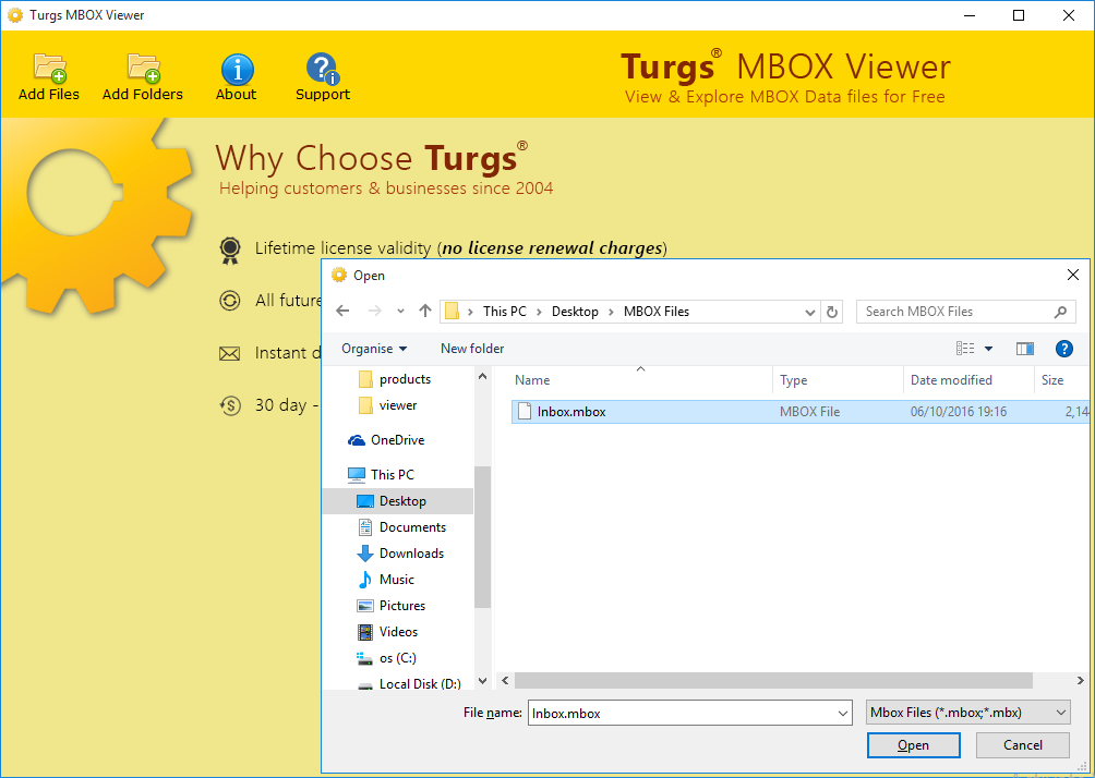 Turgs MBOX Viewer