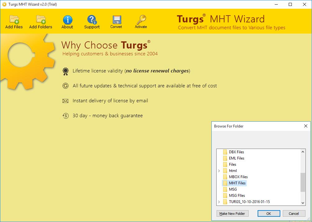 Turgs MHT Wizard