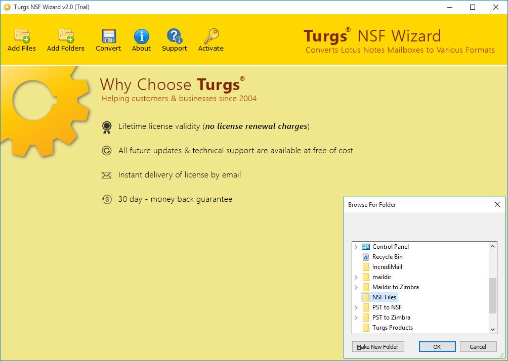 Turgs NSF Wizard