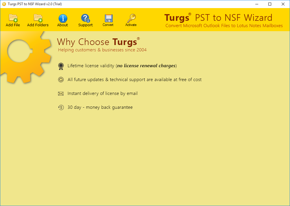 Turgs PST to NSF Wizard