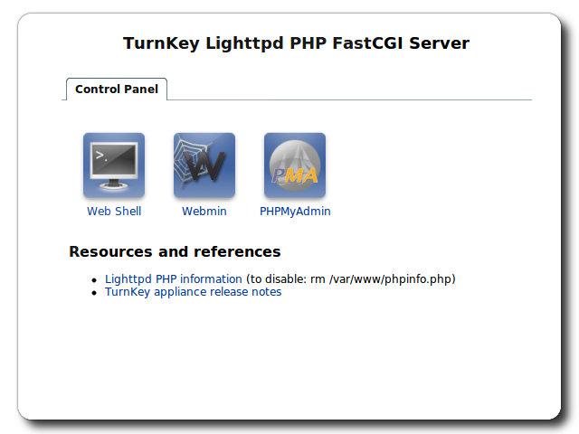 TurnKey Lighttpd Live CD