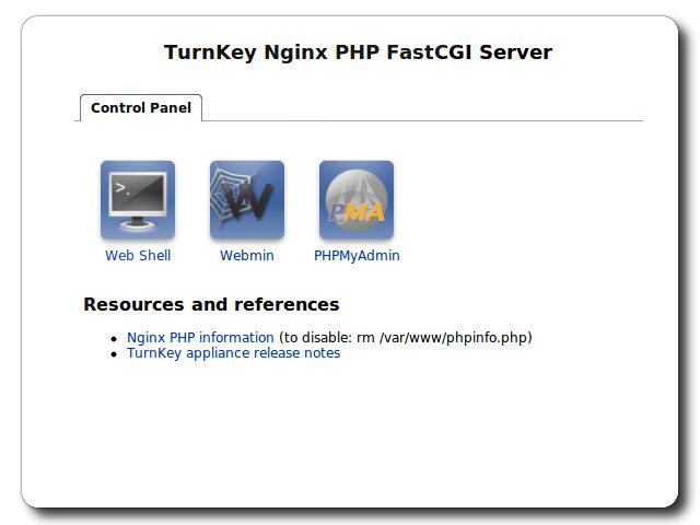 TurnKey Nginx Live CD