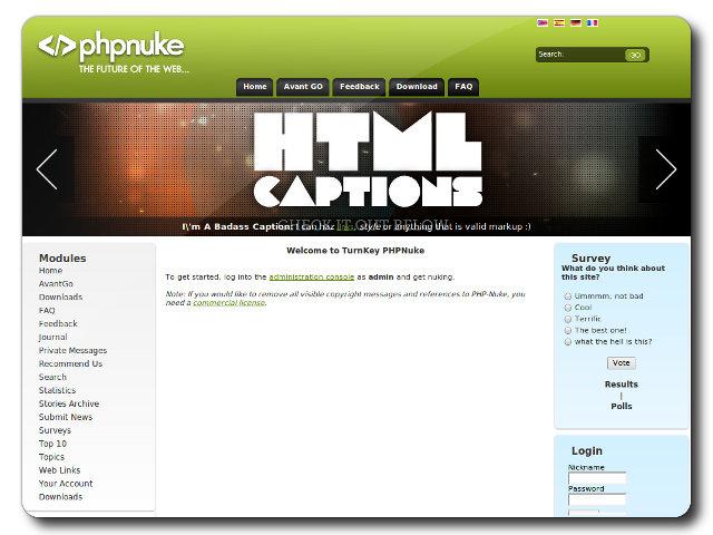 TurnKey PHP-Nuke Live CD