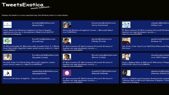 TweetsExotica for Windows 8