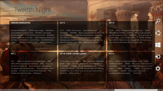 Twelfth Night by William Shakespeare for Windows 8