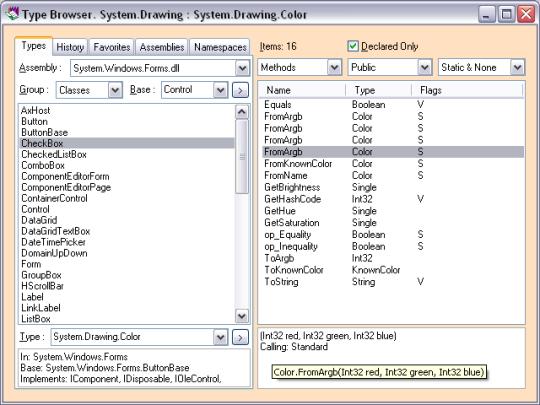Type Browser.NET