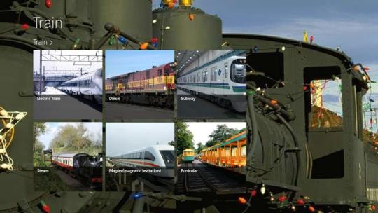 Types of Train for Windows 8