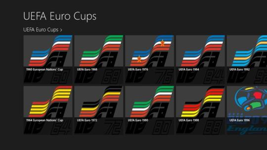 UEFA Euro Cups for Windows 8 apps