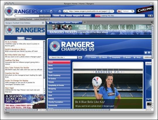 UK Rangers FC Theme for Firefox