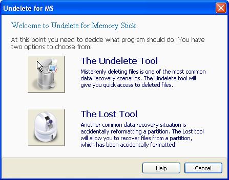 Undelete Memory Stick