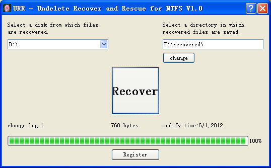 Undelete Recover and Rescue for NTFS