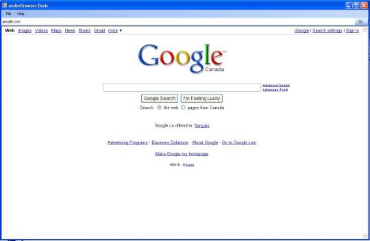 Under Browser Basic