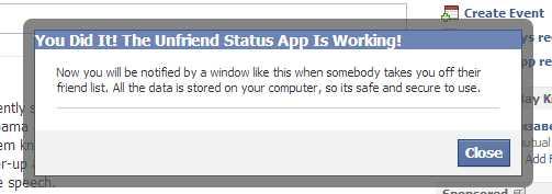 Unfriend Status