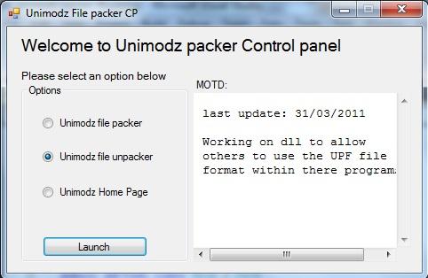 Unimodz File Packer