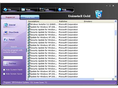 Uninstall Gold