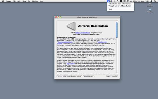 Universal Back Button