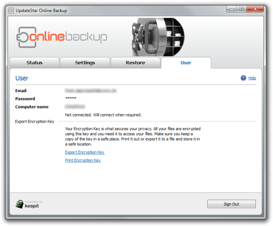 UpdateStar Online Backup (64-bit)