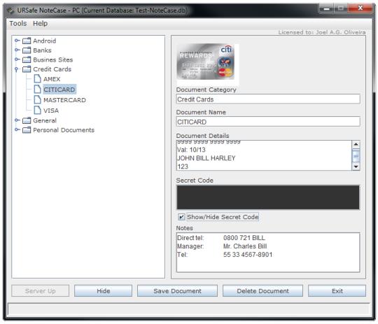 URSafe NoteCase-PC