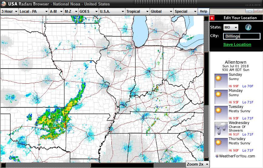 USA Radars Weather Browser