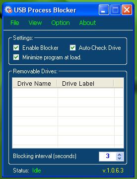 USB Process Blocker