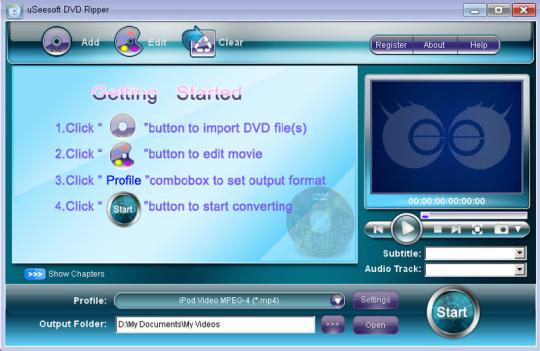 uSeesoft DVD Ripper