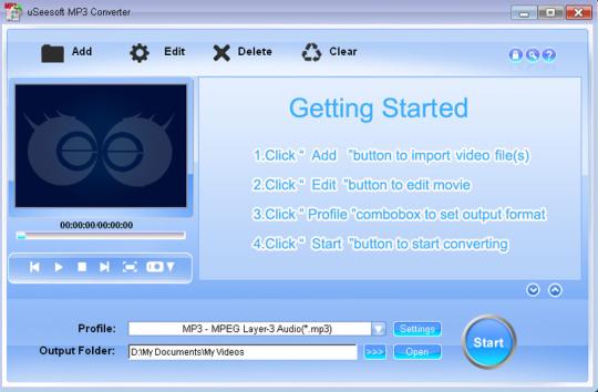 uSeesoft MP3 Converter