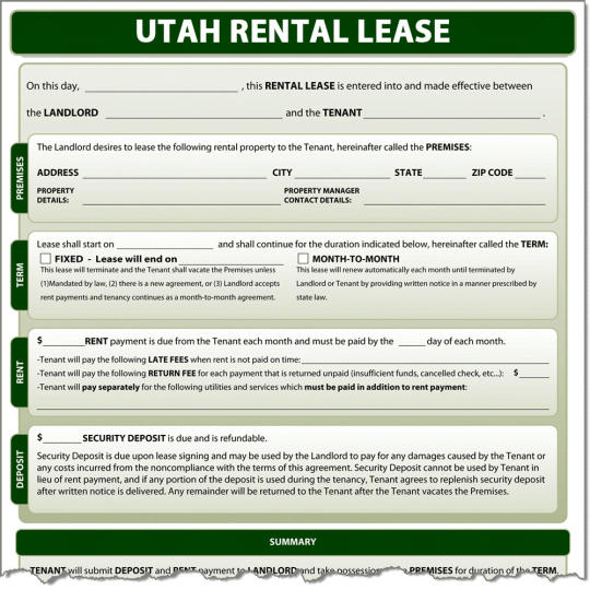 Utah Rental Lease