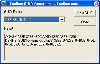 uToolbox GUID Generator Tool