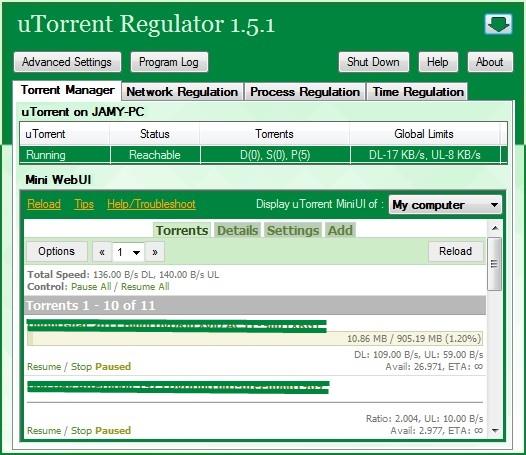 uTorrent Regulator