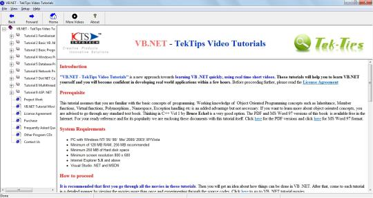 VB.NET - TekTips Video Tutorials