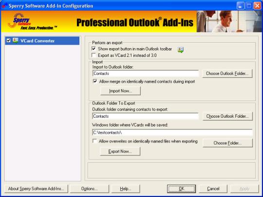 VCard Converter for Microsoft Outlook