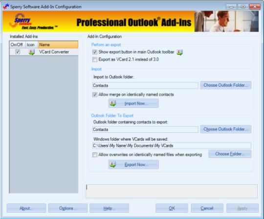 Vcard Converter for Outlook 2010 (64-bit)