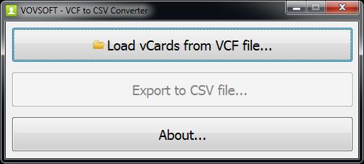 VCF to CSV Converter