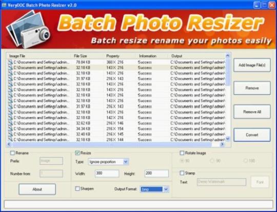 VeryDoc Batch Photo Resizer