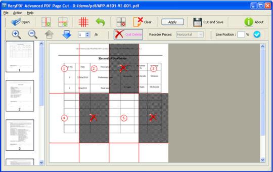 VeryPDF Advanced PDF Page Cut