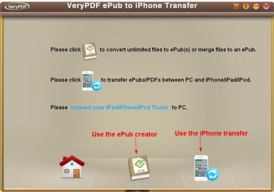 VeryPDF ePub to iPhone Transfer