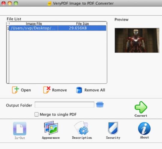 VeryPDF Image to PDF Converter (Mac)