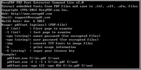 VeryPDF PDF Font Extractor Command Line