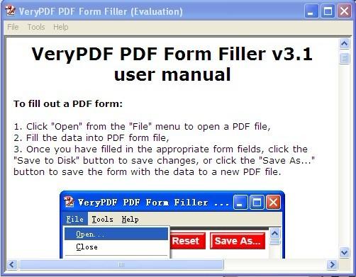 VeryPDF PDF Form Filler