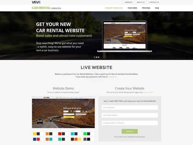 VEVS: Car Rental Website